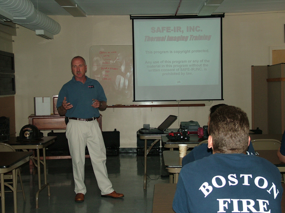 Classroom training on the thermal imager is provided at your location